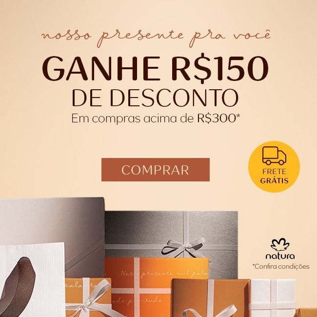 Oferta ➤ Natal Natura com 50%OFF (ganhe R$150)   . Veja essa promoção